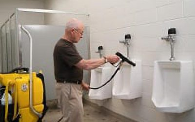 No-Touch Restroom Cleaning Machine Saves Time and Labor