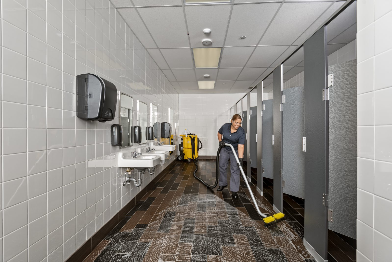 Restroom Floor Tile and Grout
