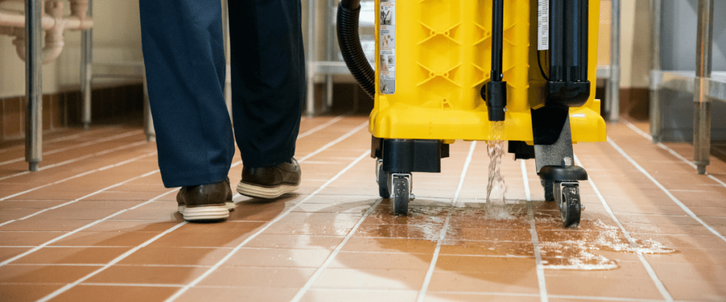 Dispensing Cleaning Chemicals on Floor with Kaivac Univac